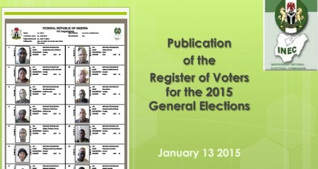 National Publication of Register of Voters